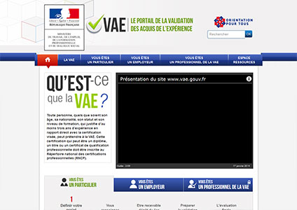 Portail Validation Acquis Experience