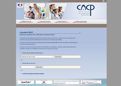 Repertoire national des certifications professionnelles