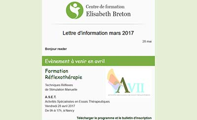Lettre d'information Réflexologie - Elisabeth Breton