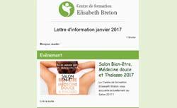Newsletter Réflexologie Centre de formation Elisabeth Breton Janvier 2017