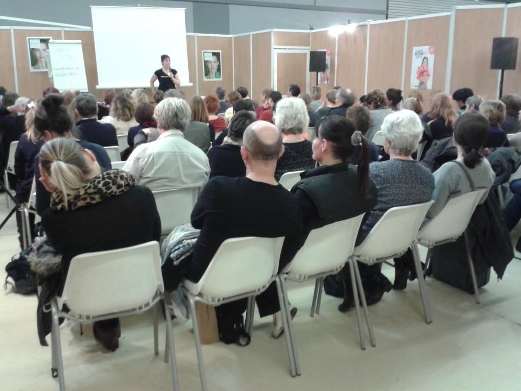 Salon Bien-être et Médecine Douce, Paris, février 2014 - Conférence Elisabeth Breton : Le métier de Réflexologue