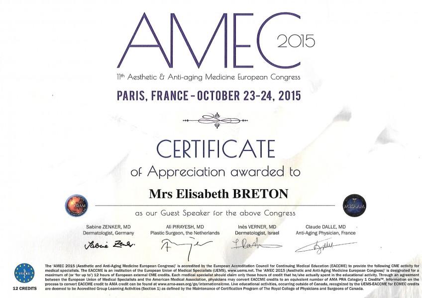 AMEC 2015 Paris - Anti-aging Medicine European Congress