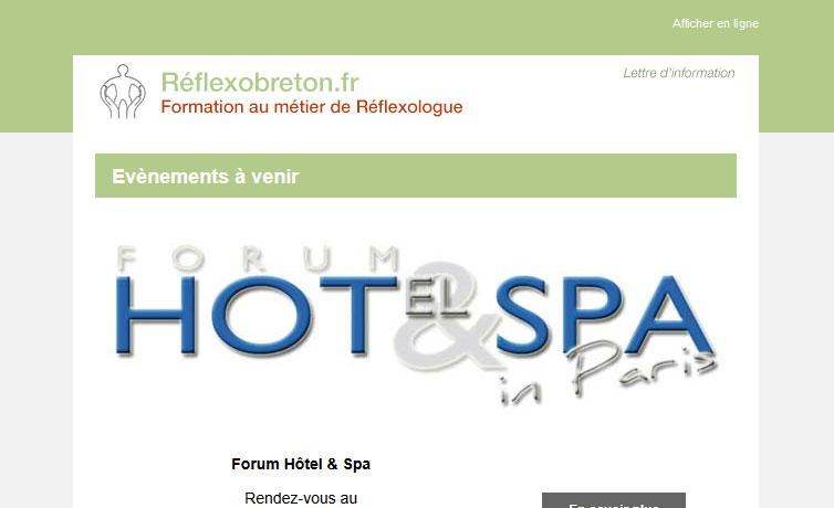 Newsletter Réflexologie - Reflexobreton.fr