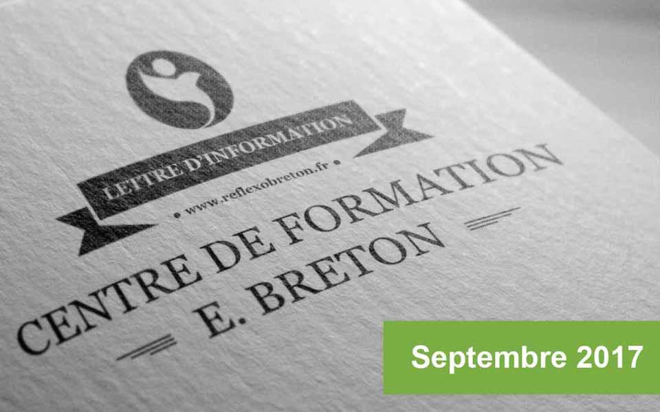 Lettre d'information - Formation Réflexologie Septembre 2017