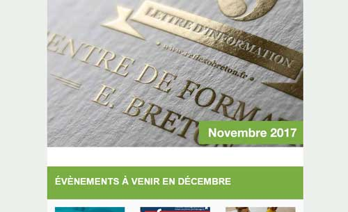 lettre information reflexologie - novembre 2017