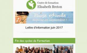 Lettre d'information Réflexologie - Juin 2017