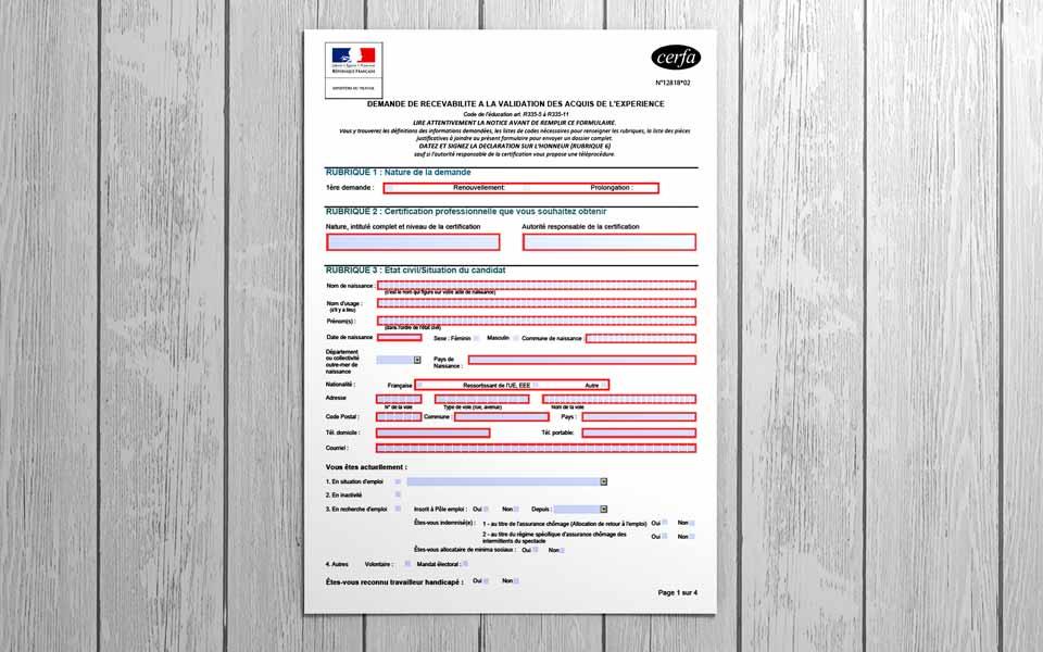 formulaire inscription vae