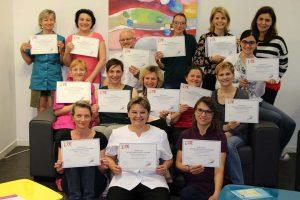 Certifications des Praticiens en réflexologie plantaire du centre LSBE à Troyes en partenariat avec le centre d'E.Breton Groupe de novembre 2017 à mars 2018 à Troyes