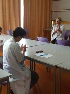 atelier d'autostimulation réflexe palmaire et cranio-faciale