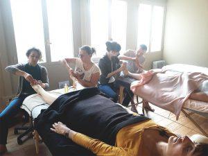 salle de cours réflexologie