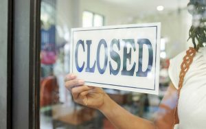 magasin fermé