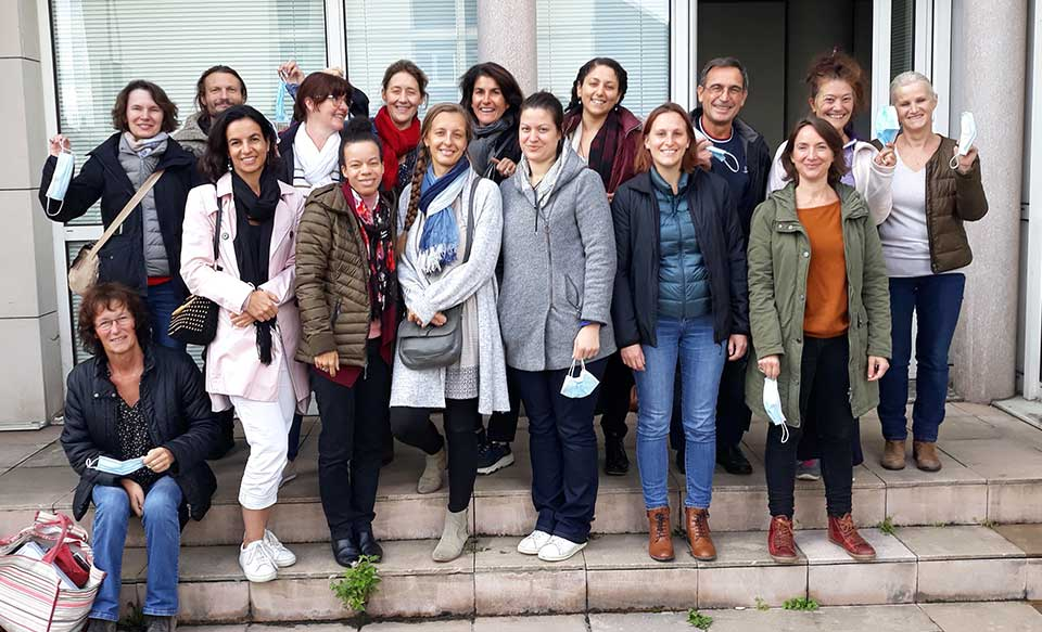 Groupe des Réflexologues formés à Versailles